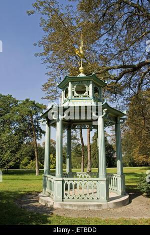 France, Paris, Bois de Boulogne, Parc de trifle, pavilion, - Stock Photo