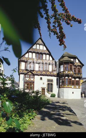 Germany, North Rhine-Westphalia, Höxter, Old Town, Dechanei, Teutoburger wood, Weser mountainous country, marketplace, - Stock Photo