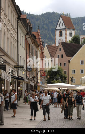 Germany, Bavaria, to feet, city centre, pedestrian area, passers-by, - Stock Photo