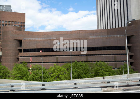 Murry Bergtraum High School for Business Careers campus New York City USA - Stock Photo