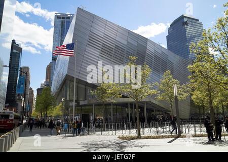 national september 11th memorial museum New York City USA - Stock Photo
