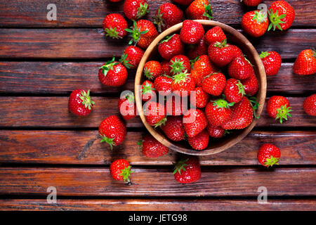Strawberries. Top view, copy space - Stock Photo