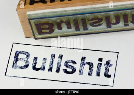 Stamp Bullshit, Stempel Bullshit - Stock Photo