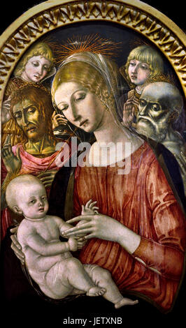 a overview of the painting madonna and child with saint jerome by matteo giovanni Madonna and child with saints liberale and francis (the castelfranco madonna painting, is actually a portrait of matteo liberale and francis (the.
