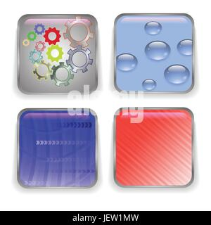 blue, glass, chalice, tumbler, button, technology, icon, frame, internet, www, - Stock Photo