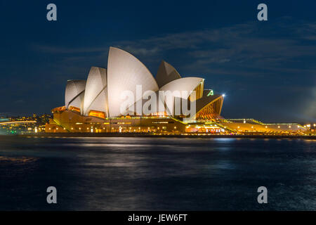 View on Sydney Opera house at night, long exposure - Stock Photo