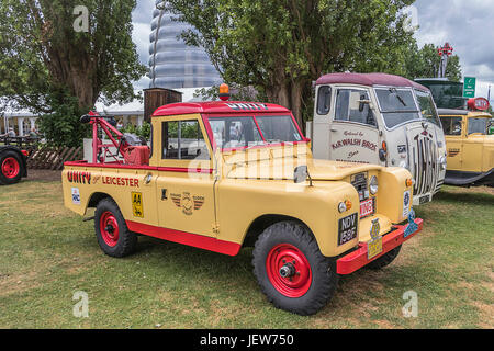 Unity Recovery Landrover At The Vintage Fair Held At Abbey Pumping Station In Leicester 25th June 2017. - Stock Photo