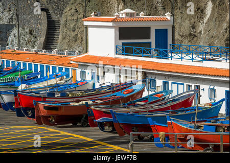 Old style fishing boats - Stock Photo
