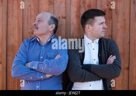 Family problems between son and father - Stock Photo