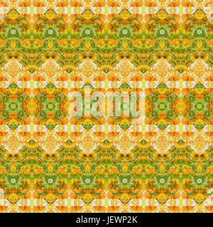 Indian Stylized Floral Stripes - Stock Photo