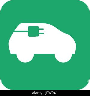 Electric car energy - Stock Photo