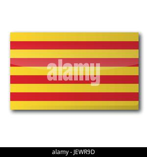 flag catalonia - Stock Photo