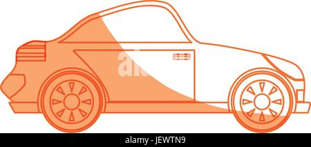 isolated sport car - Stock Photo