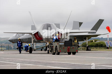 Official Media Assignment at  RNAS Culdrose, Helston, Cornwall, UK. 27th June, 2017. Life-size replicas of the Royal - Stock Photo
