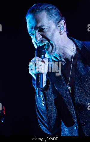 Milan Italy. 27th June 2017. The English electronic band DEPECHE MODE performs live on stage at Stadio San Siro - Stock Photo