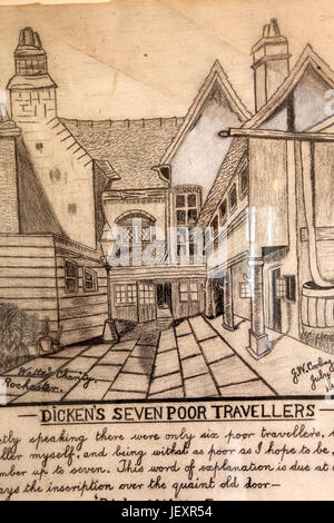 The Six Poor Travellers House, Rochester, Kent - Stock Photo