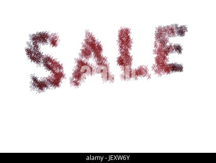 Three-dimensional inscription sale - Stock Photo