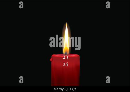 holiday, vacation, holidays, vacations, candle, advent, christmas, december, - Stock Photo