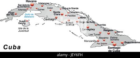 Card outline cuba borders atlas map of the world map stock card outline cuba borders atlas map of the world map gumiabroncs Gallery