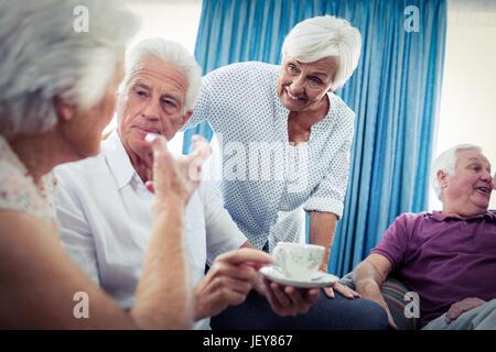 Group of seniors interacting - Stock Photo