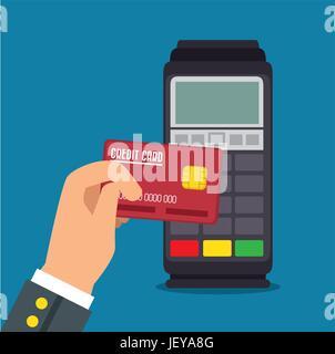 Payment terminal design - Stock Photo