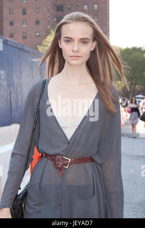 Fashion model Nimue Smit - Stock Photo