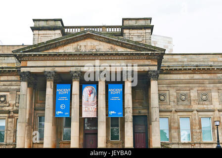 Liverpool central library and World Museum in St Georges Quarter,Liverpool,UK - Stock Photo