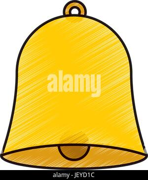 school bell isolated icon - Stock Photo