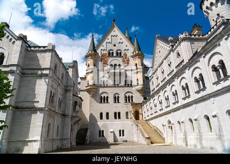 Neuschwanstein Castle. Nineteenth-century Romanesque Revival palace in southwest Bavaria, Germany. - Stock Photo
