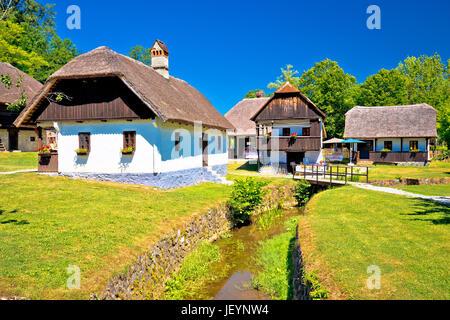 Kumrovec picturesque village in Zagorje region of Croatia, birth place of Josip Broz Tito, former leader of Yugoslavia - Stock Photo