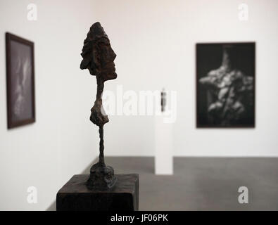 Alberto Giacometti exhibition Gagosian Gallery - Stock Photo