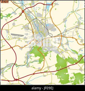 map of erfurt Stock Vector Art Illustration Vector Image