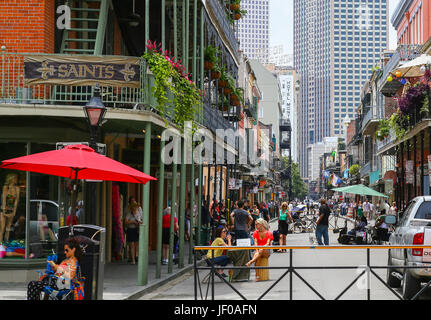 Hustle and Bustle in French Quarter - Stock Photo