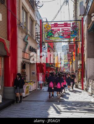 Nagasaki Chinatown in Nagasaki, Japan