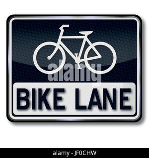 shield bike lane - Stock Photo