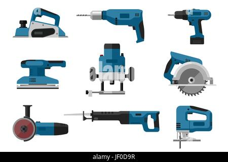 Electric tools set - Stock Photo
