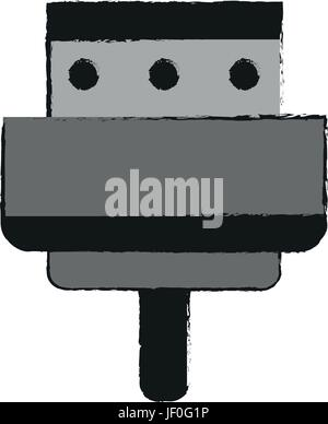 digital device charger icon image  - Stock Photo