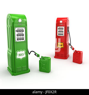 3D rendering gas station - Stock Photo
