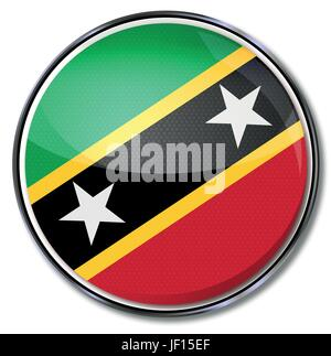 button st kitts and nevis - Stock Photo