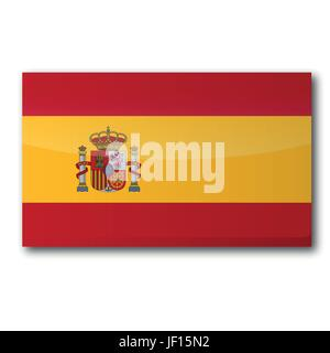 flag spain - Stock Photo