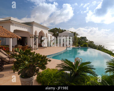 Toucan Hill Villa, the highest villa on Mustique - Stock Photo