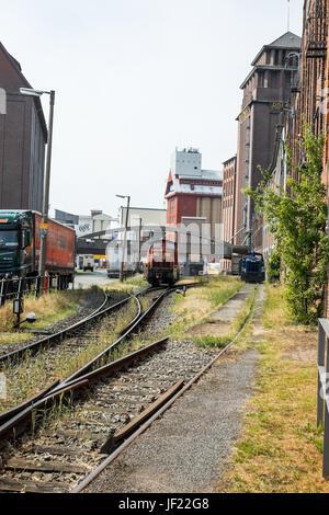 Bahngleise Bremen - Stock Photo