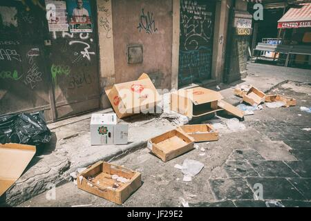 Dirty street trash - Stock Photo