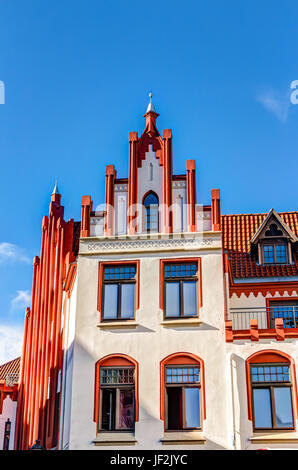 Historic building in Wismar - Stock Photo