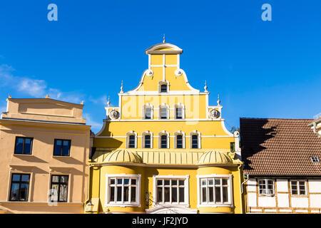 Historic buildings in Wismar - Stock Photo