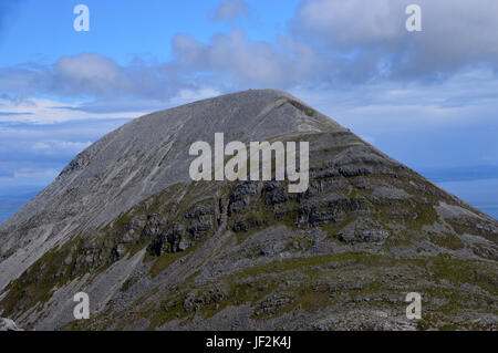 The Western Ridge of the Scottish Mountain Graham Beinn Shiantaidh from the Corbett Beinn an Oir (Paps of Jura) - Stock Photo