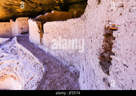 Cliff houses at the Gila Cliff Dwellings National Monument, near Silver City, New Mexico. - Stock Photo