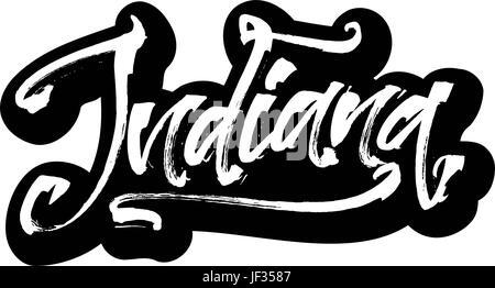 Indianapolis  Sticker  Modern Calligraphy Hand Lettering for