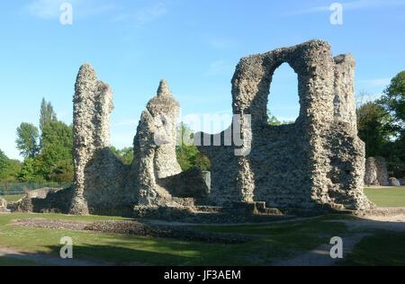 abbey church ruins Bury St Edmunds - Stock Photo