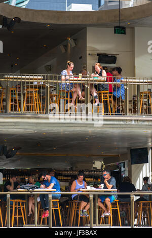 Jimmy's On The Mall on the corner of Queen street and Albert street in Brisbane's main shopping district. Queensland, - Stock Photo